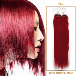 18 Inch Red Micro Loop Human Hair Extensions 100S 100g