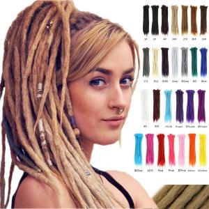 "1pc 20"" Handmade Dreadlocks Synthetic Crochet Braids Dreads Locs Hair Extensions"