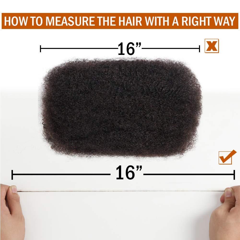 3 Bundles Afro Kinkys Bulk Human Hair - Afro Bulk Braiding Hair for Dreadlocks - Loc Braiding Hair Color 3