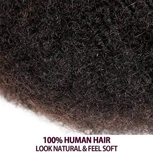 3 Bundles Afro Kinkys Bulk Human Hair - Afro Bulk Braiding Hair for Dreadlocks - Loc Braiding Hair Color 6