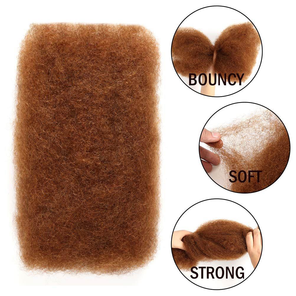 3 Bundles Afro Kinkys Bulk Human Hair - Afro Bulk Braiding Hair for Dreadlocks - Loc Braiding Hair Color 9