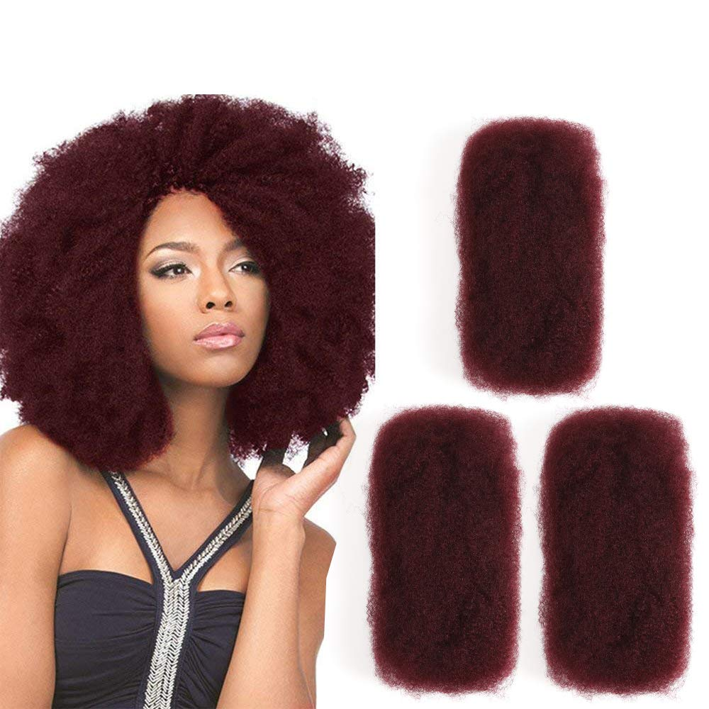 3 Bundles Afro Kinkys Bulk Human Hair - Afro Bulk Braiding Hair for Dreadlocks - Loc Braiding Hair Color 11