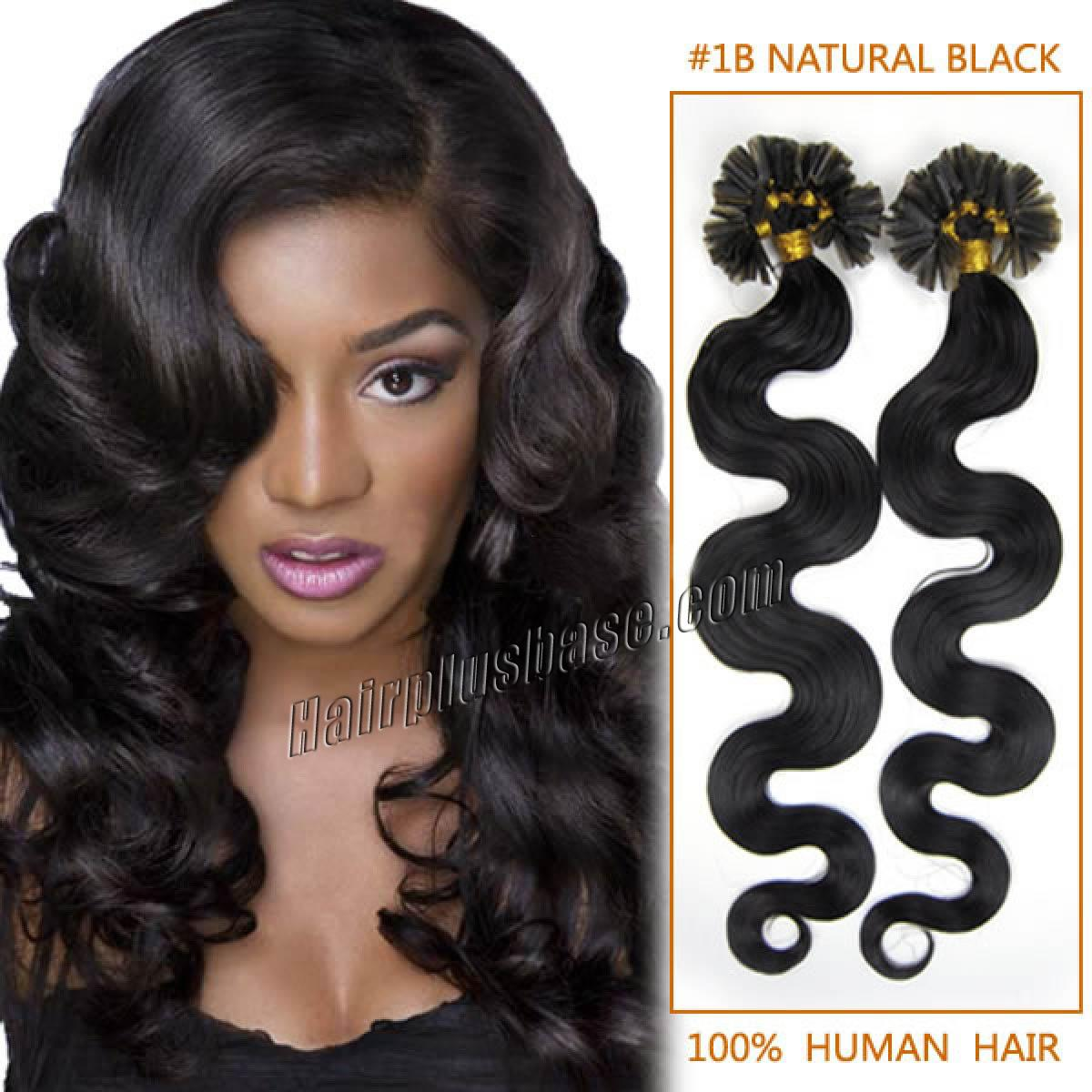 Inch 1b natural black wavy nail tip human hair extensions 100s 20 inch 1b natural black wavy nail tip human hair extensions 100s pmusecretfo Choice Image