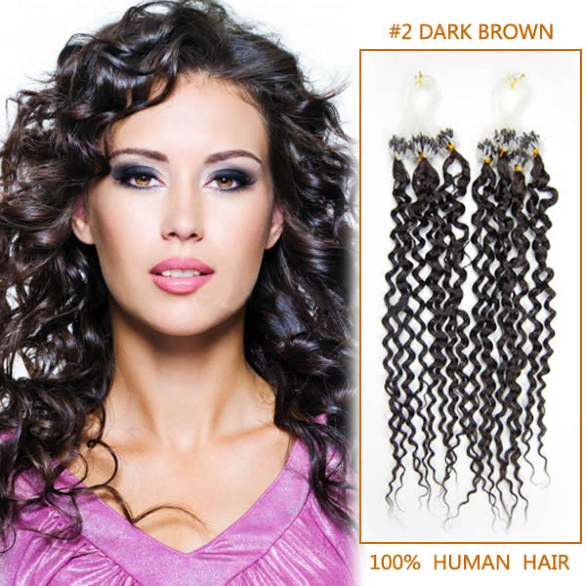Inch 2 dark brown dense spiral curly micro loop hair extensions 20 inch 2 dark brown dense spiral curly micro loop hair extensions 100 strands pmusecretfo Choice Image