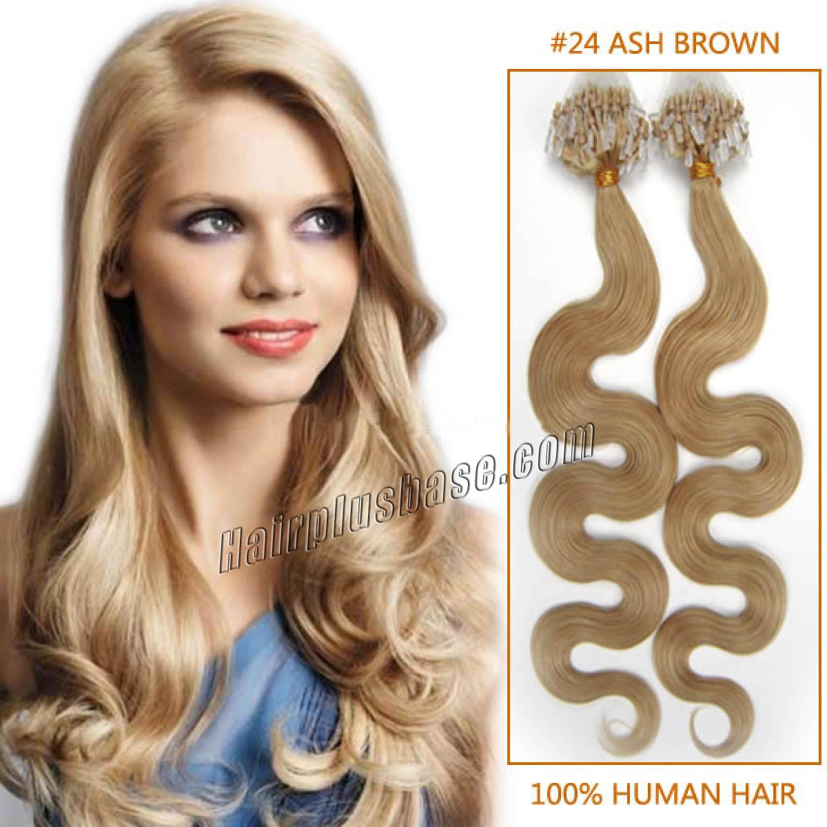 Inch 24 ash blonde wavy micro loop human hair extensions 100s 20 inch 24 ash blonde wavy micro loop human hair extensions 100s pmusecretfo Image collections