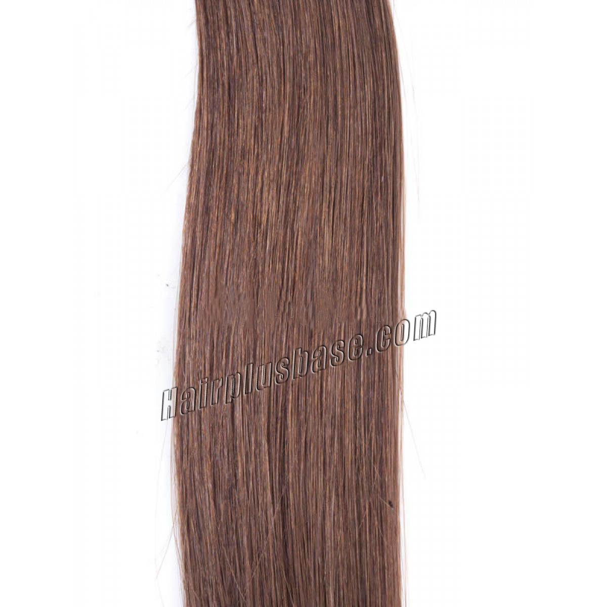 20 Inch 6 Light Brown Clip In Remy Human Hair Extensions 7pcs