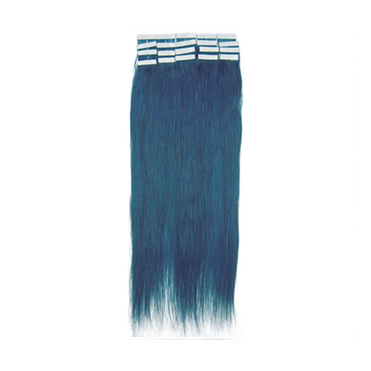 20 Inch Blue Tape In Human Hair Extensions 20pcs