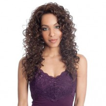 20 Inch Curly Long Lace Front Wigs #4 Medium Brown