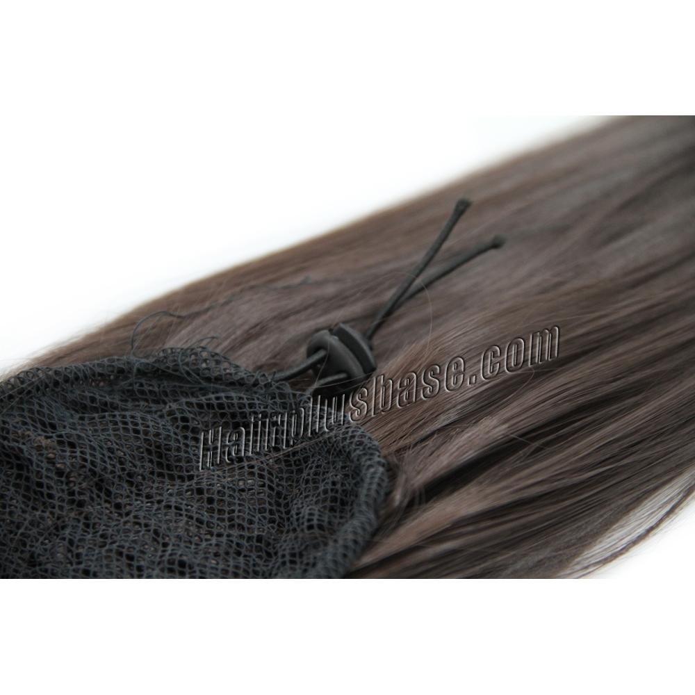 20 Inch Drawstring Human Hair Ponytail Straight #4 Medium Brown at Great Price no 2