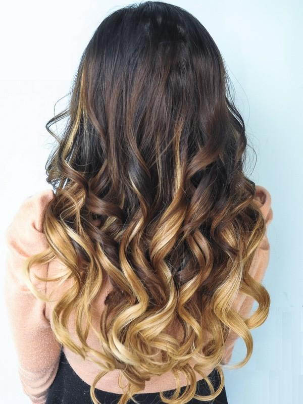 Inch harmonious ombre clip in remy human hair extensions three 20 inch harmonious ombre clip in remy human hair extensions three tone body wave 9pcs pmusecretfo Images