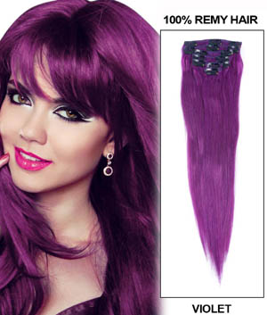 20 Inch Lila Clip In Remy Human Hair Extensions 7pcs