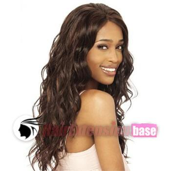 20 Inch Wavy Long Lace Front Wigs #4 Medium Brown