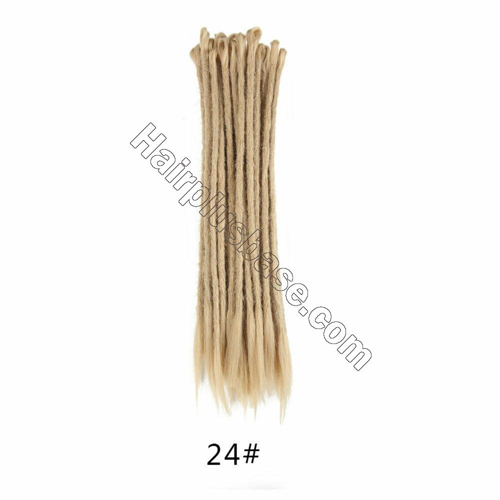 20pcs 20 Inch Handmade Dreadlocks Single Ended Locs Synthetic Dreads Hair Extensions 8