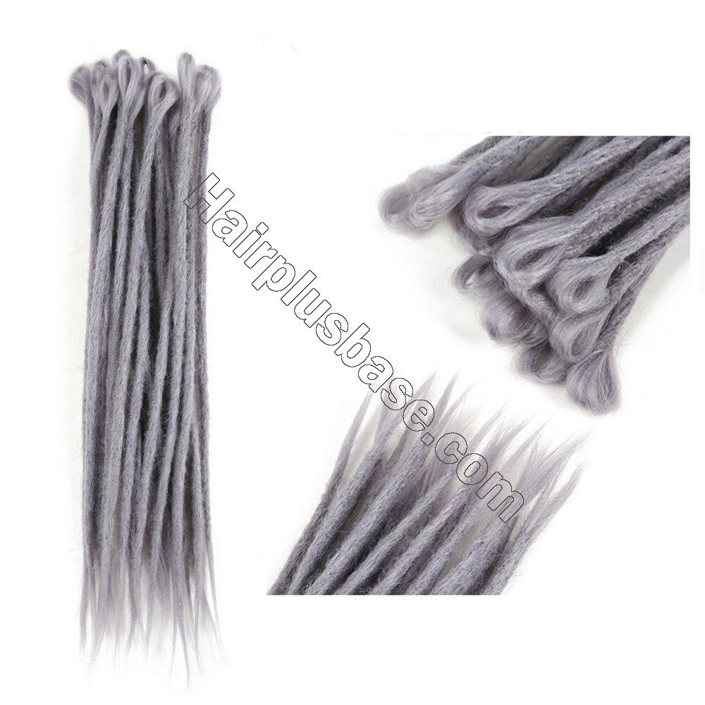 20pcs 20 Inch Handmade Dreadlocks Single Ended Locs Synthetic Dreads Hair Extensions 12