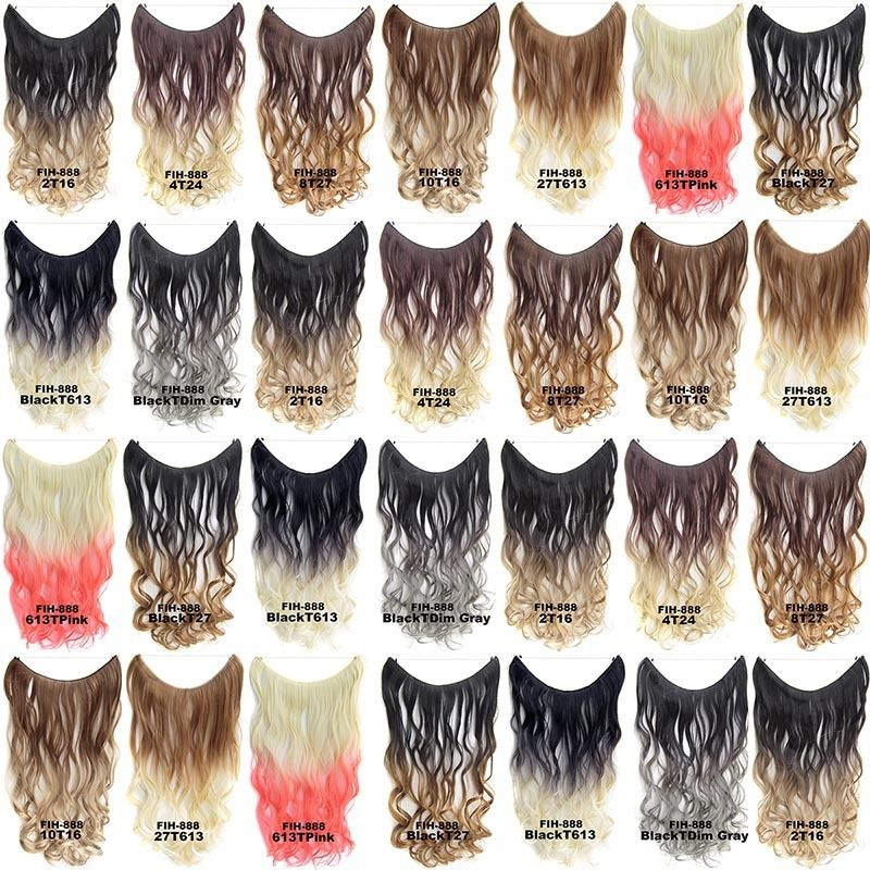 "22"" Hidden Invisible Dip Dye Ombre Wire Secret Miracle Hair Extension Body Wave"