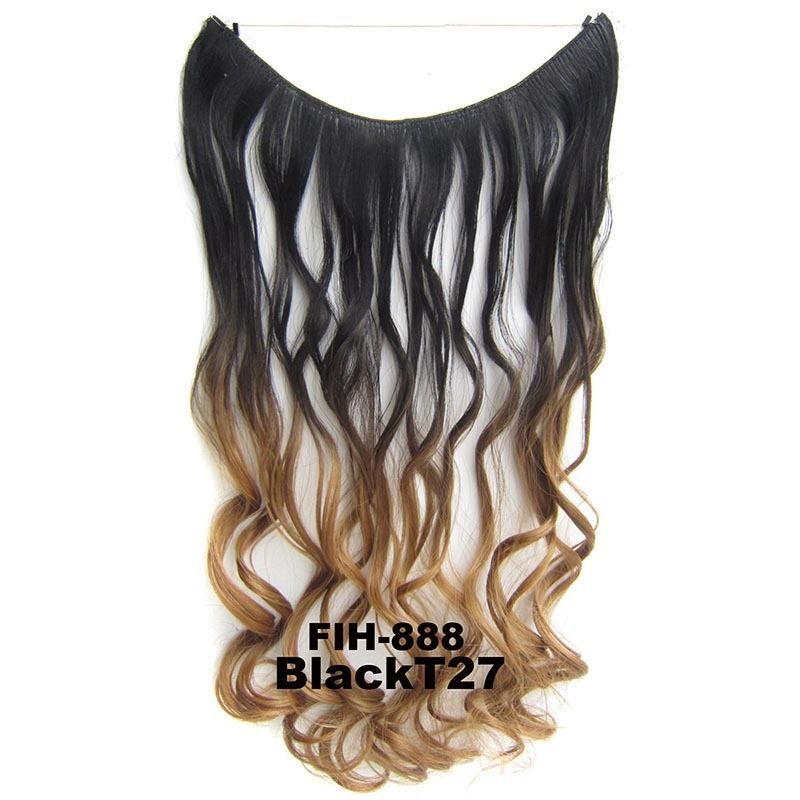 "22"" Hidden Invisible Dip Dye Ombre Wire Secret Miracle Hair Extension Body Wave 1"