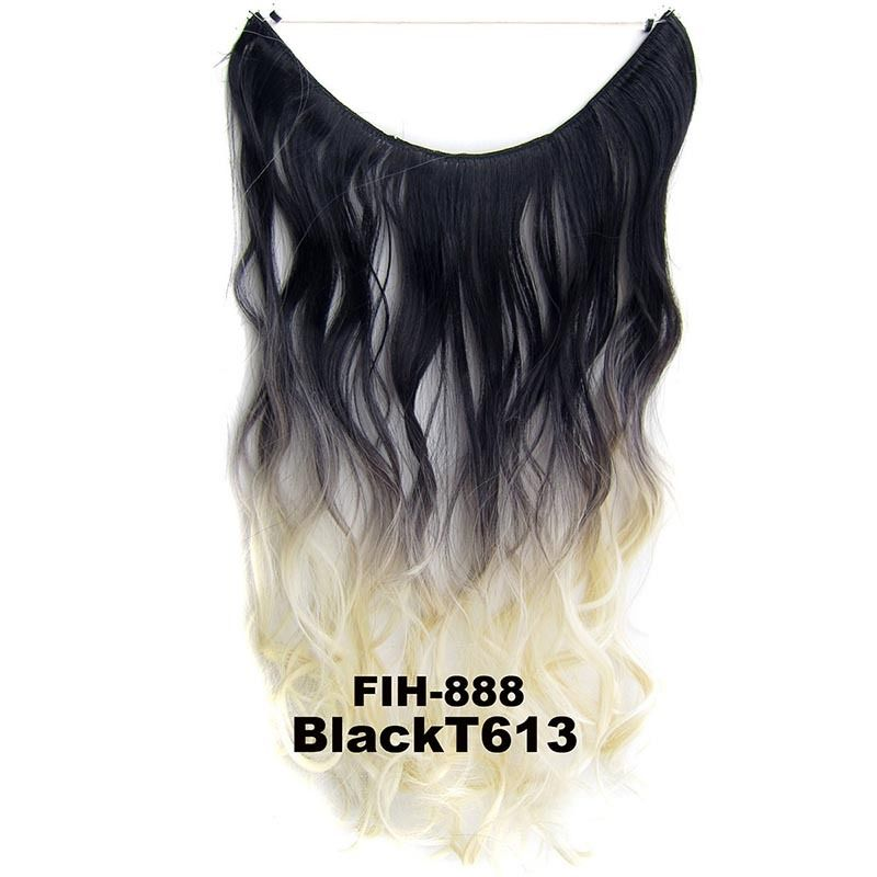 """22"""" Hidden Invisible Dip Dye Ombre Wire Secret Miracle Hair Extension Body Wave 2"""