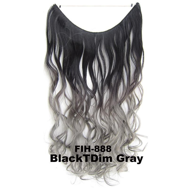 """22"""" Hidden Invisible Dip Dye Ombre Wire Secret Miracle Hair Extension Body Wave 3"""