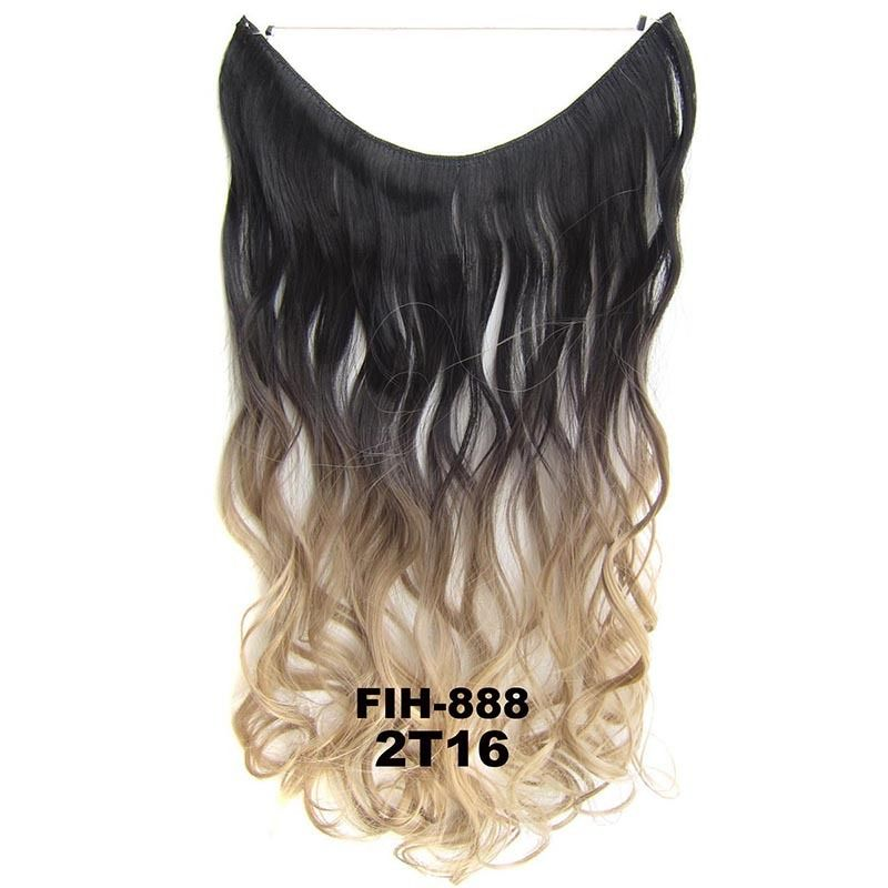 """22"""" Hidden Invisible Dip Dye Ombre Wire Secret Miracle Hair Extension Body Wave 4"""