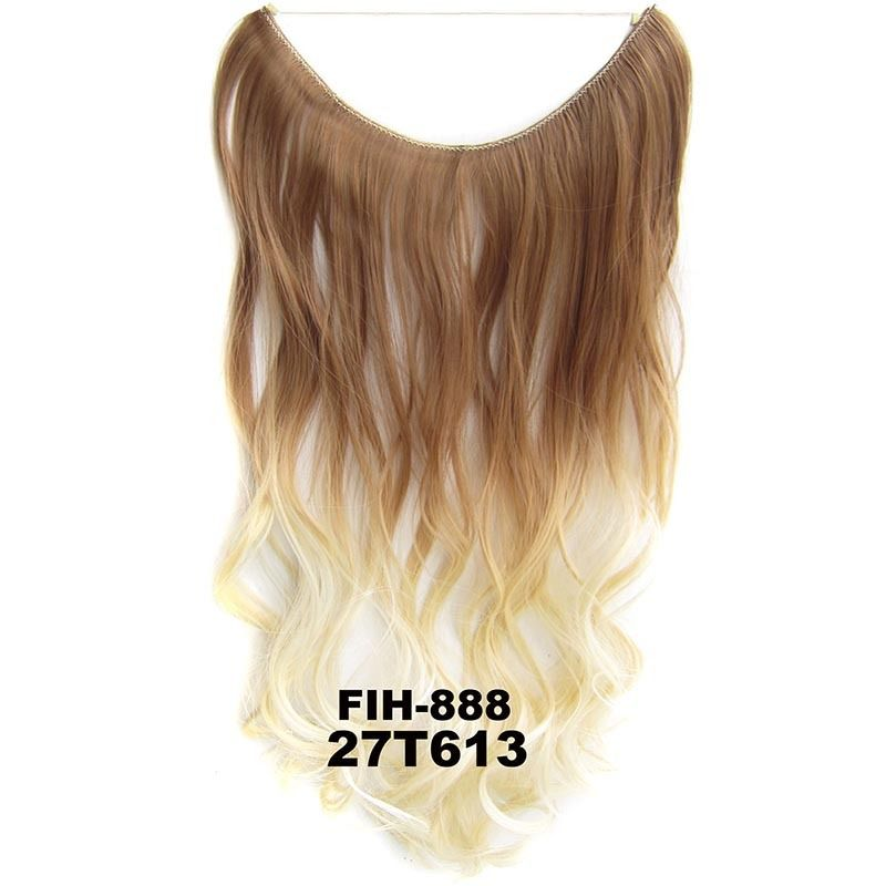 "22"" Hidden Invisible Dip Dye Ombre Wire Secret Miracle Hair Extension Body Wave 8"
