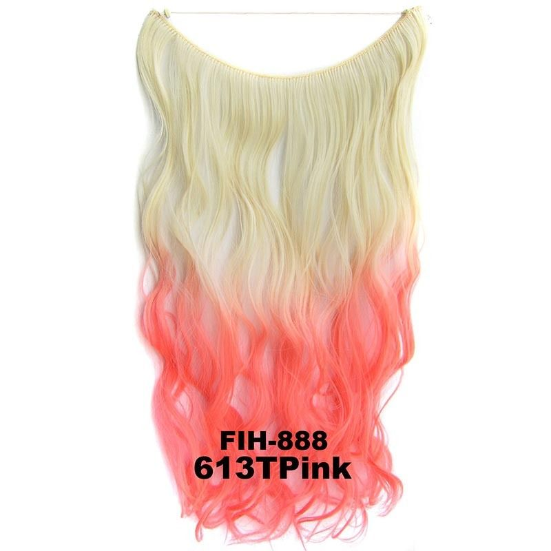 """22"""" Hidden Invisible Dip Dye Ombre Wire Secret Miracle Hair Extension Body Wave 9"""