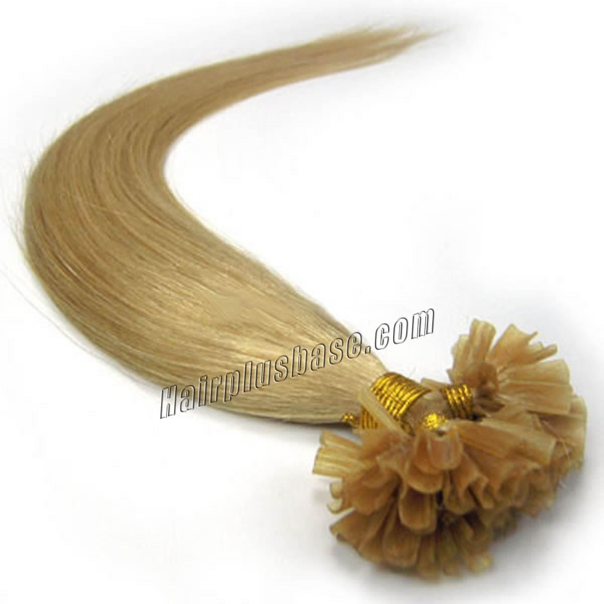 22 Inch 24 Ash Blonde Stick Tip Human Hair Extensions 100s