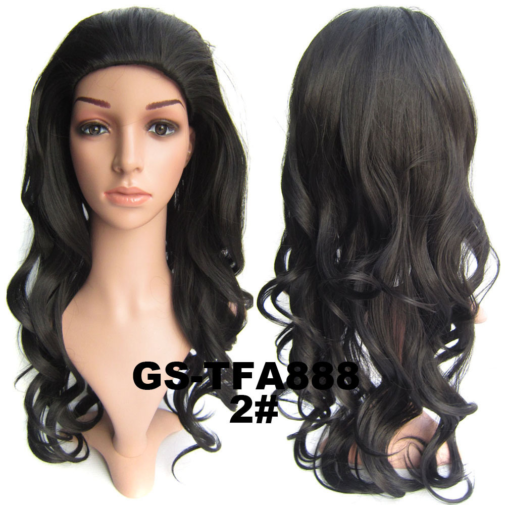 db8333699 22 Inch Amazing Curly and Long 3/4 Half Head Synthetic Hair Wigs With Comb