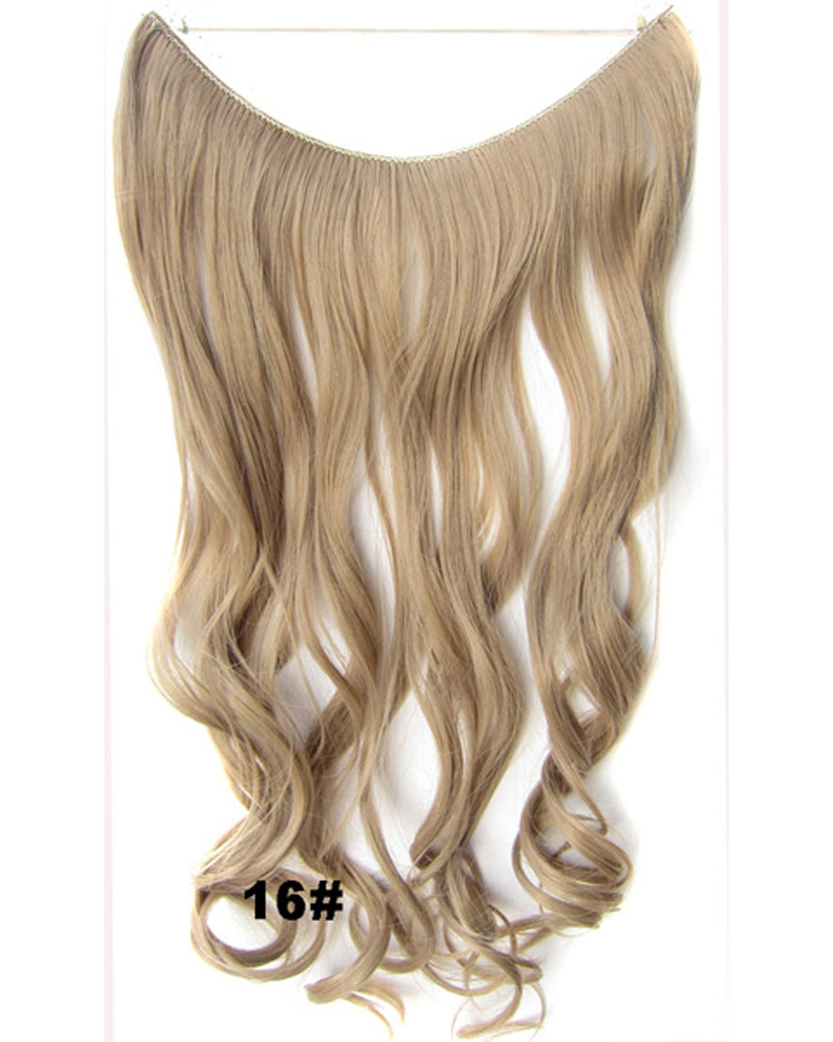 22 Inch Amazing Curly and Long Miracle One Piece Miracle Wire Flip in Synthetic Hair Extension 16#