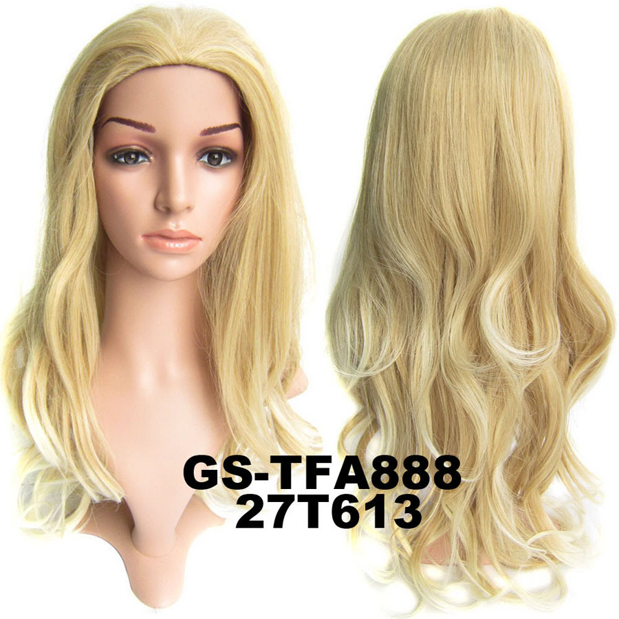 22 Inch Brilliant Curly and Long 3/4 Half Head Synthetic Hair Wigs With Comb 27T613