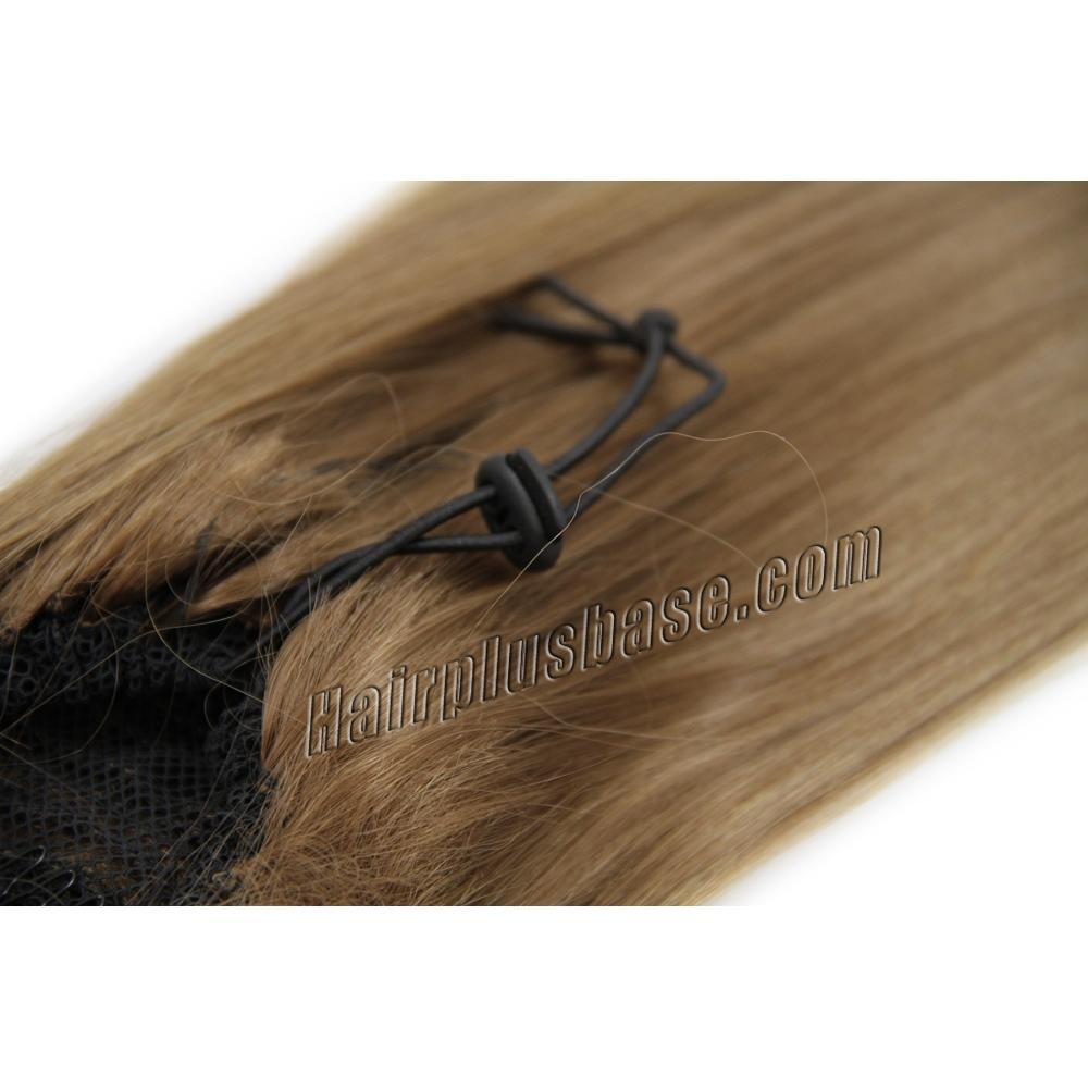 22 Inch Drawstring Human Hair Ponytail Silky Straight #8 Ash Brown no 2