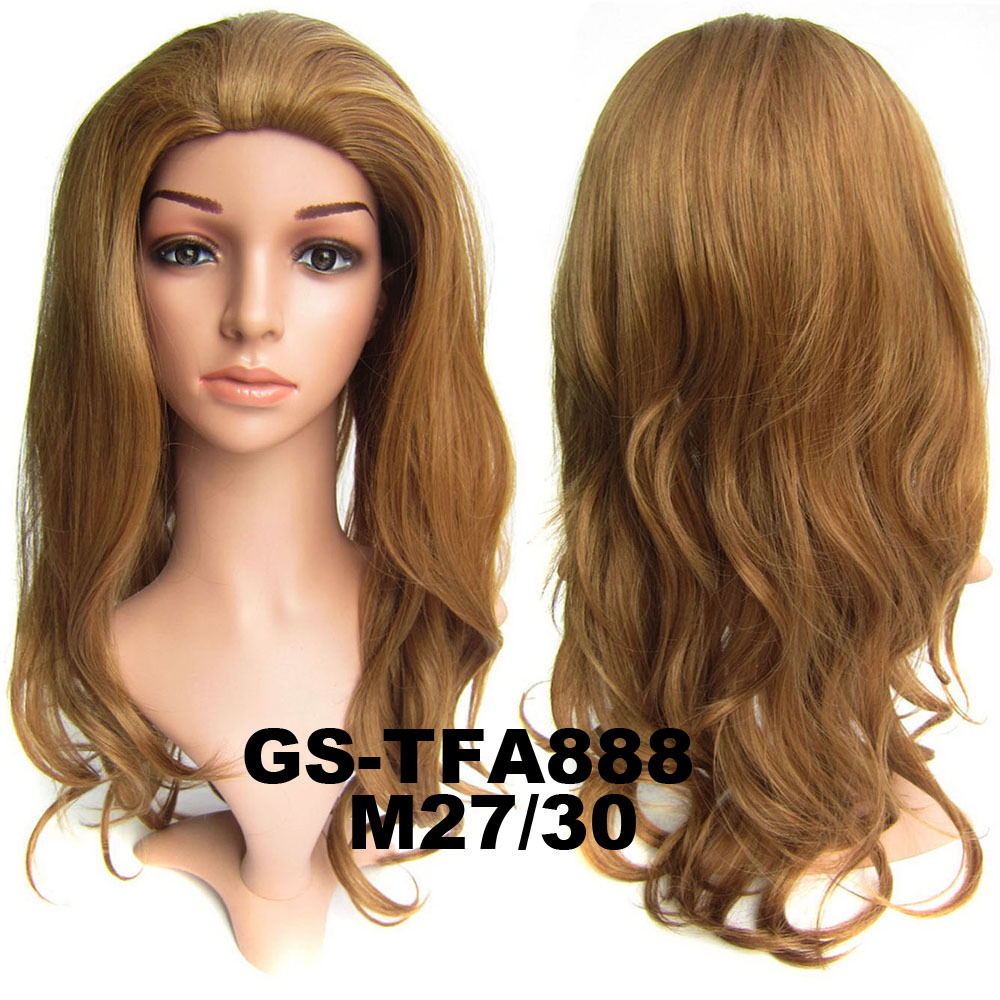 22 Inch Graceful Curly and Long 3/4 Half Head Synthetic Hair Wigs With Comb M27/30