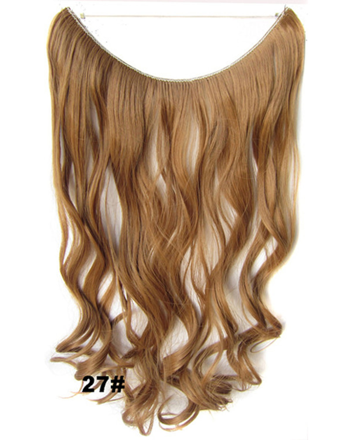 22 Inch High-class Curly and Long Miracle One Piece Miracle Wire Flip in Synthetic Hair Extension 27#