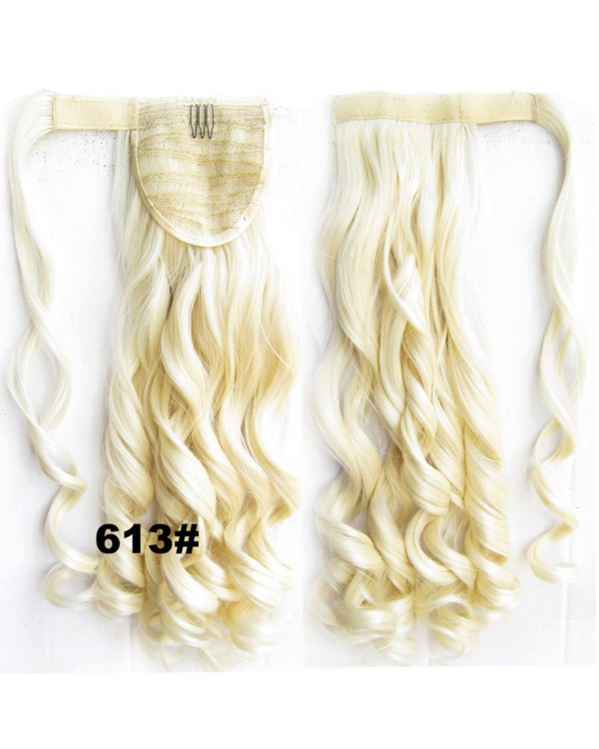 22 Inch Lady Absorbing Curly and Long Wrap Around Synthetic Hair Ponytail 613#