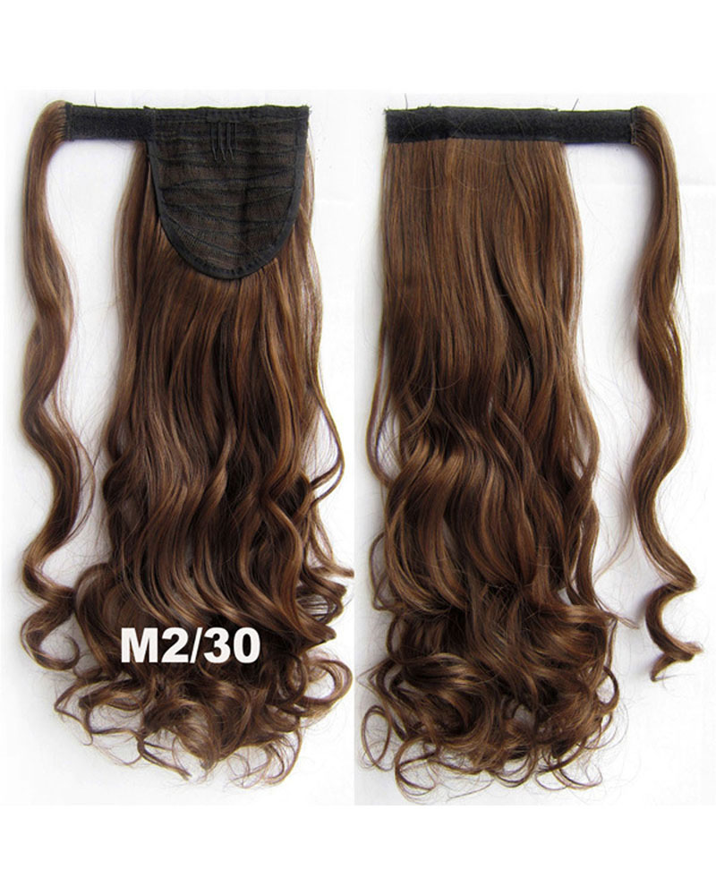 22 Inch Lady Admirable Curly and Long Wrap Around Synthetic Hair Ponytail  M2/30
