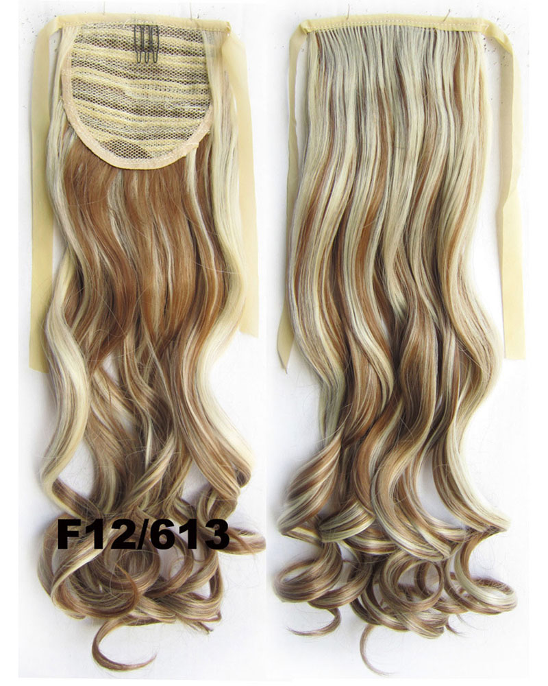 22 Inch Lady Amazing Curly and Long Lace/Ribbon Synthetic Hair Ponytail  F12/613 Clean and Smooth