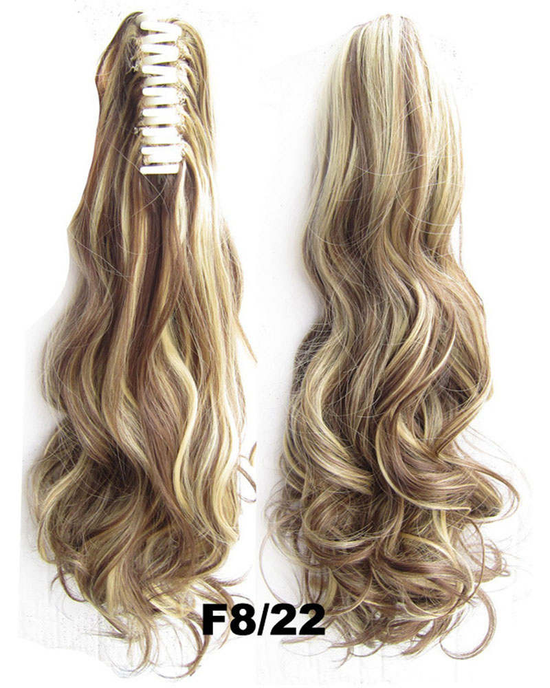 22 Inch Lady Body Wave Exellent Curly and Long Claw Chip Synthetic Hair Ponytail  F8/22