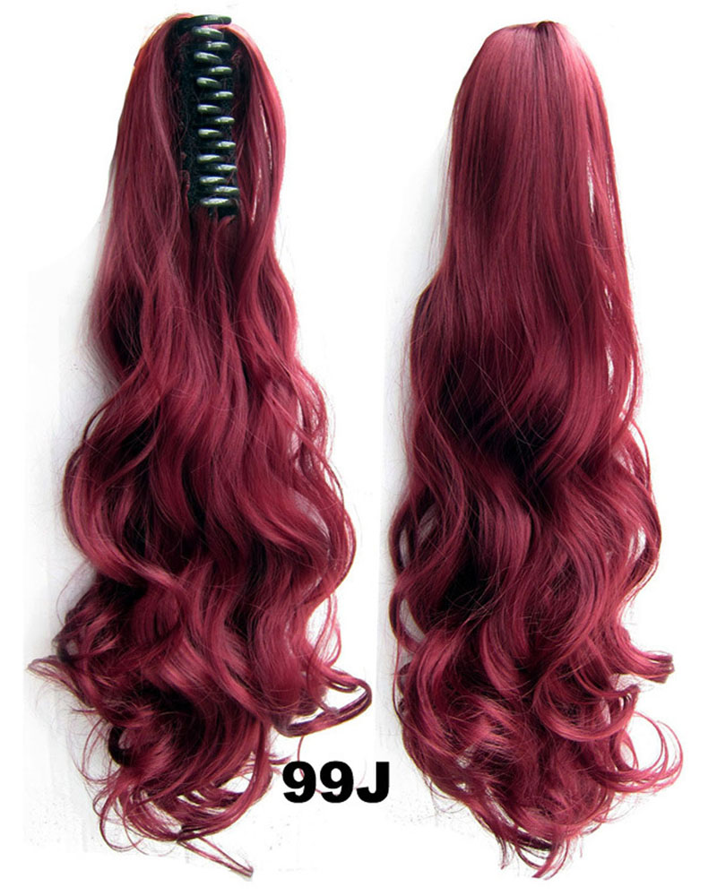 22 Inch Lady Body Wave Seductive Curly and Long Claw Chip Synthetic Hair Ponytail  99J