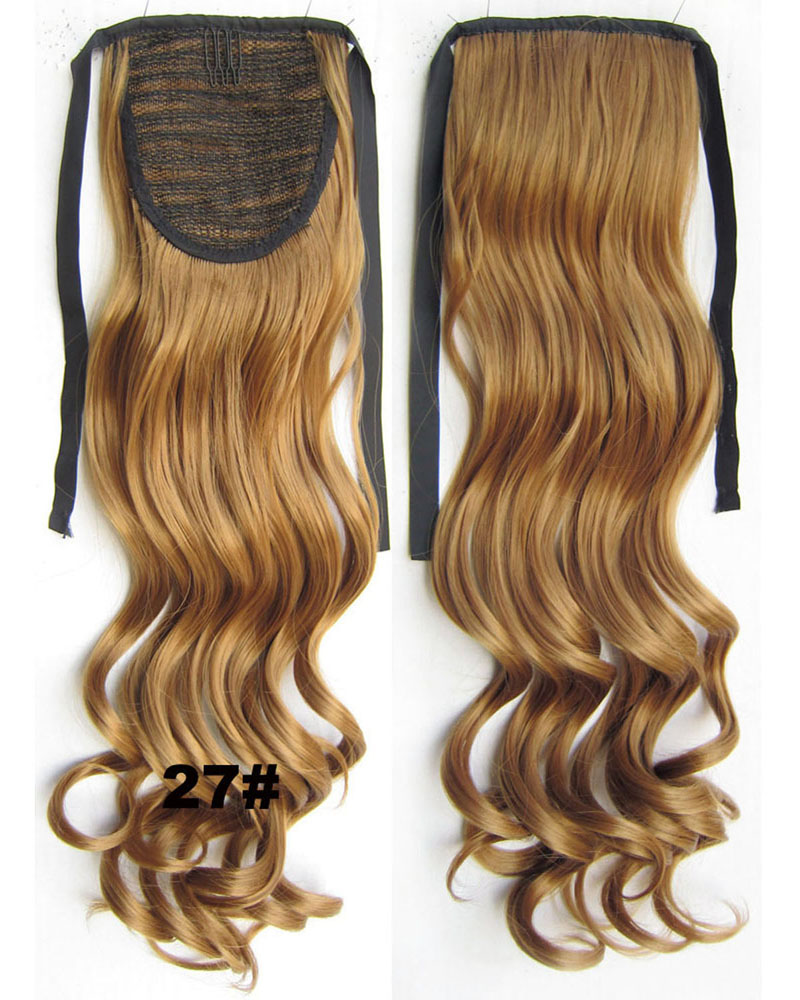 22 Inch Lady Curly and Long Lace/Ribbon Synthetic Hair Ponytail 27# Great Quality and Charming