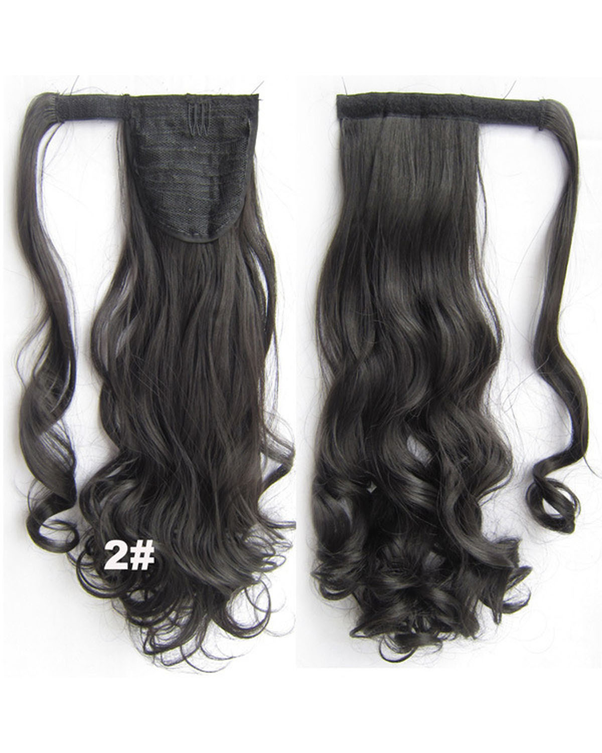 22 Inch Lady Dreamy Curly and Long Wrap Around Synthetic Hair Ponytail 2#