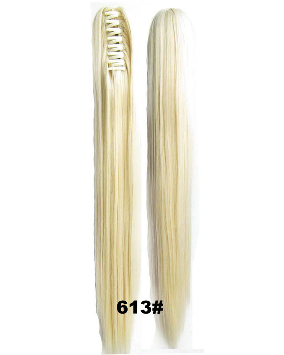 22 Inch Lady Execllent  Straight and Long Claw Chip Synthetic Hair Ponytail 613#