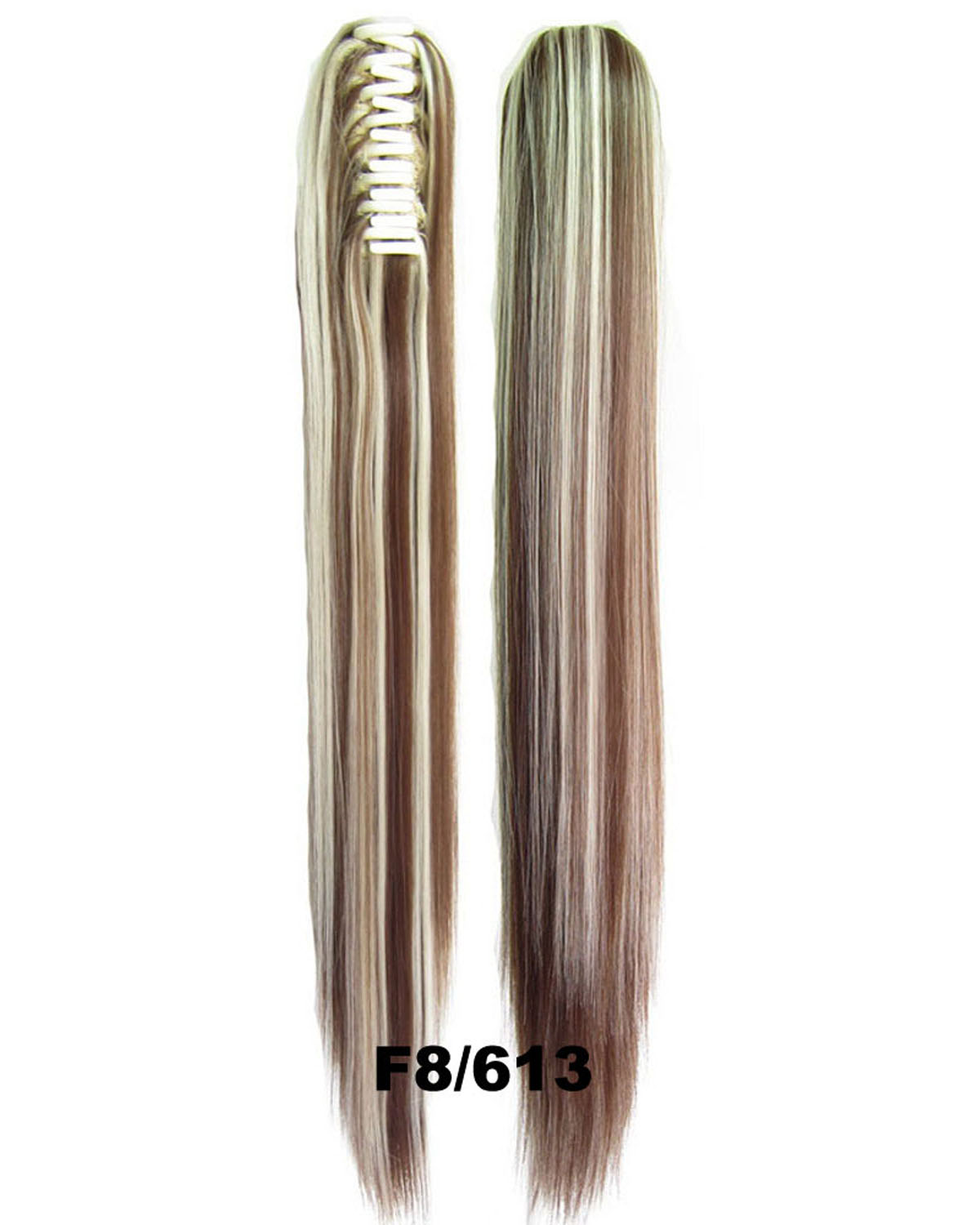 22 Inch Lady Fine Straight and Long Claw Chip Synthetic Hair Ponytail  F8/613 Good Quality