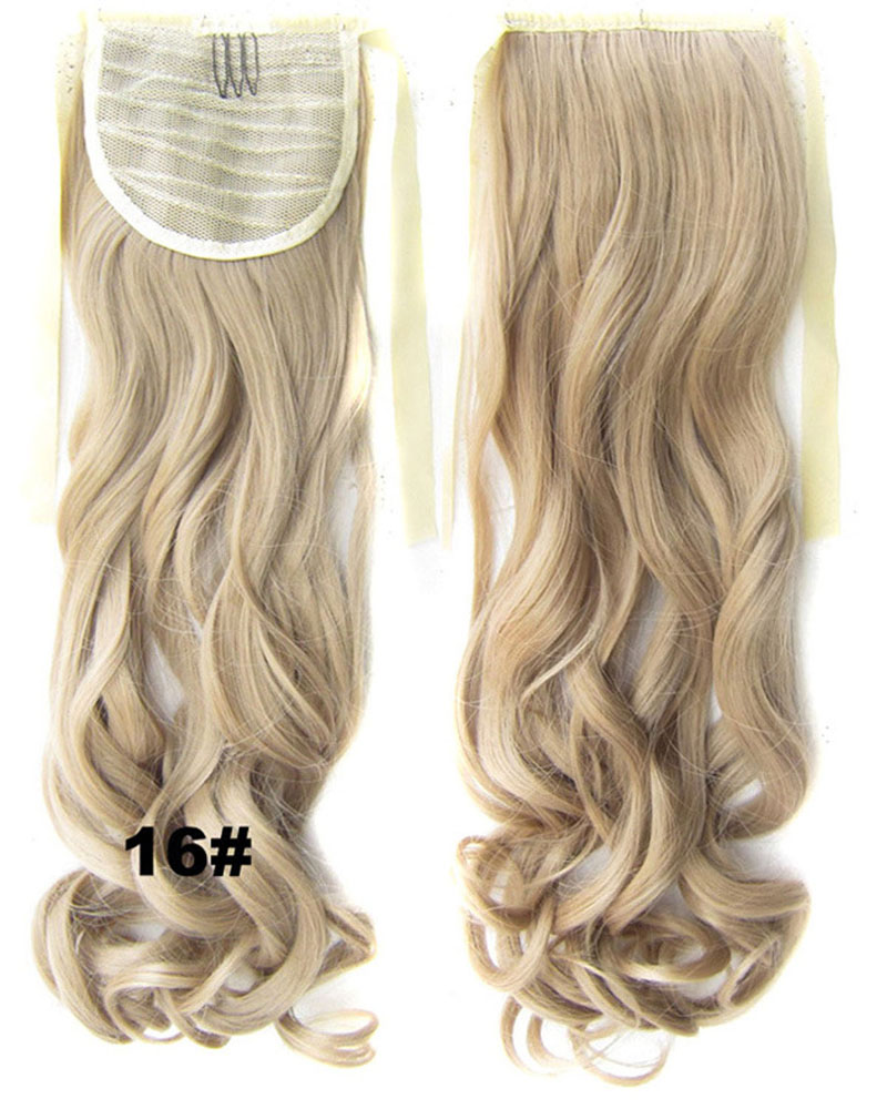 22 Inch Lady Grand Curly and Long Lace/Ribbon Synthetic Hair Ponytail  16#  Smooth and Silky