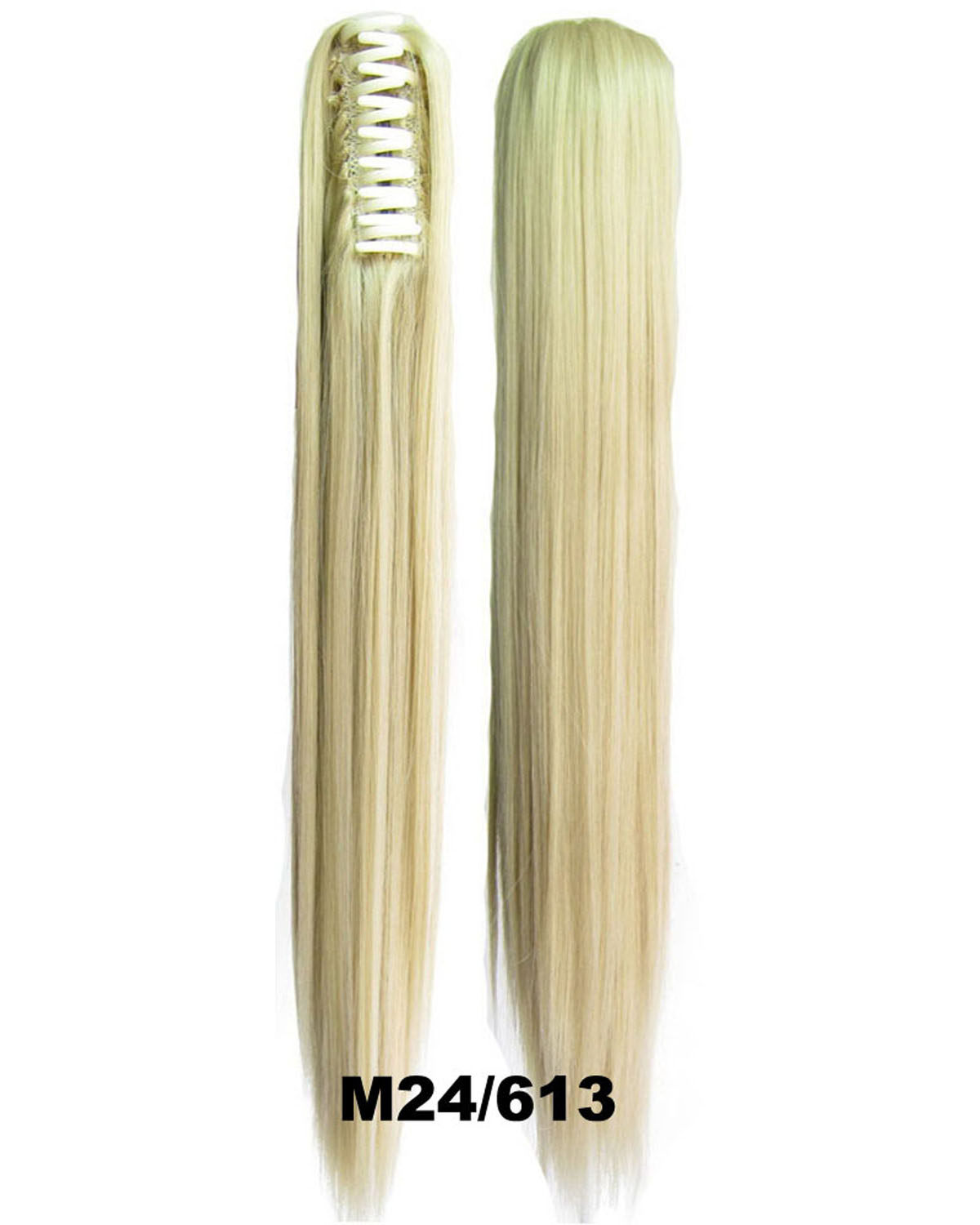 22 Inch Lady Great Straight and Long Claw Chip Synthetic Hair Ponytail M24/613 Good Quality