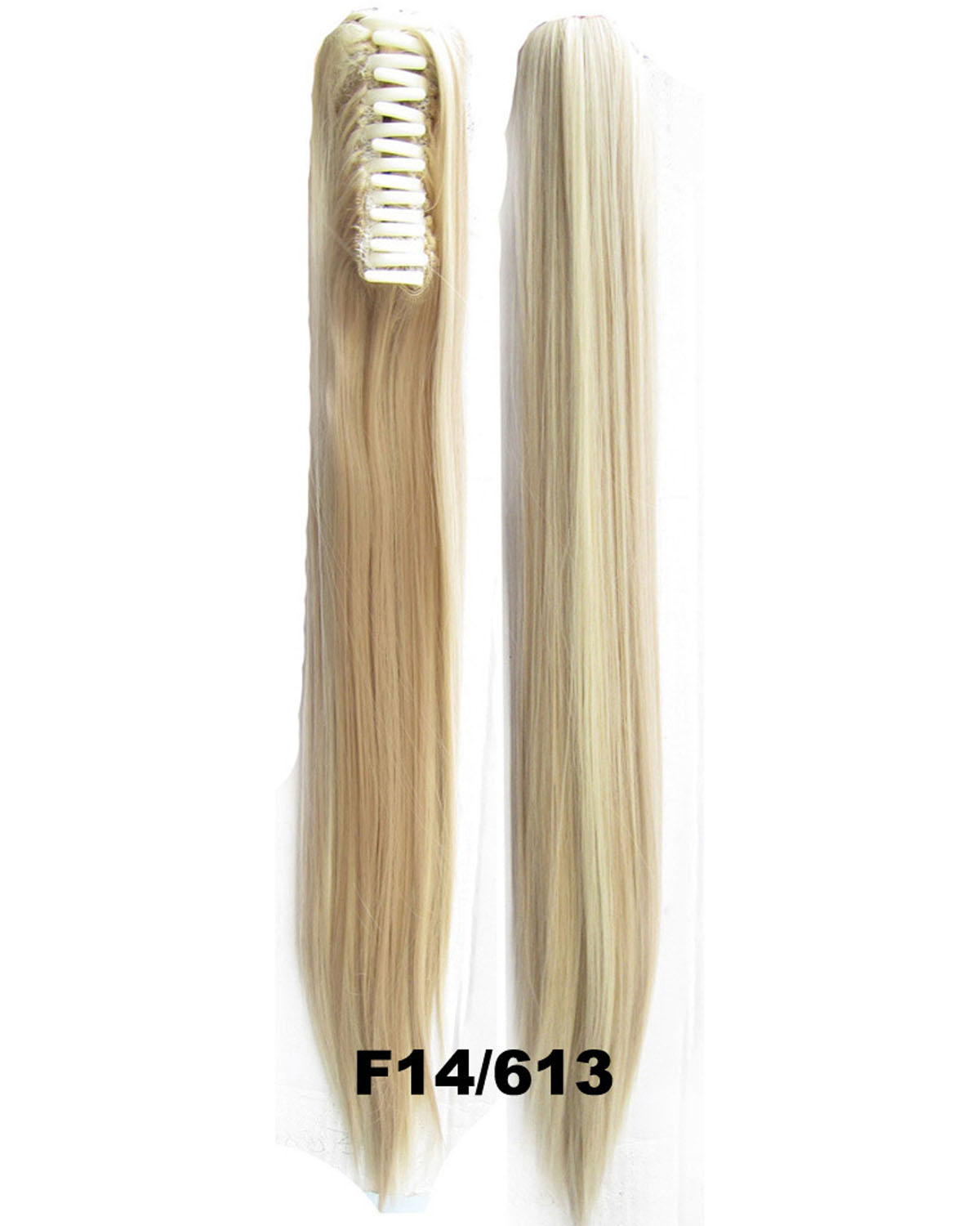 22 Inch Lady Shinning Straight and Long Claw Chip Synthetic Hair Ponytail F14/613  High Quality