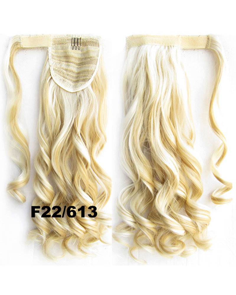 22 Inch Lady  Smashing Curly and Long Wrap Around Synthetic Hair Ponytail F22/613