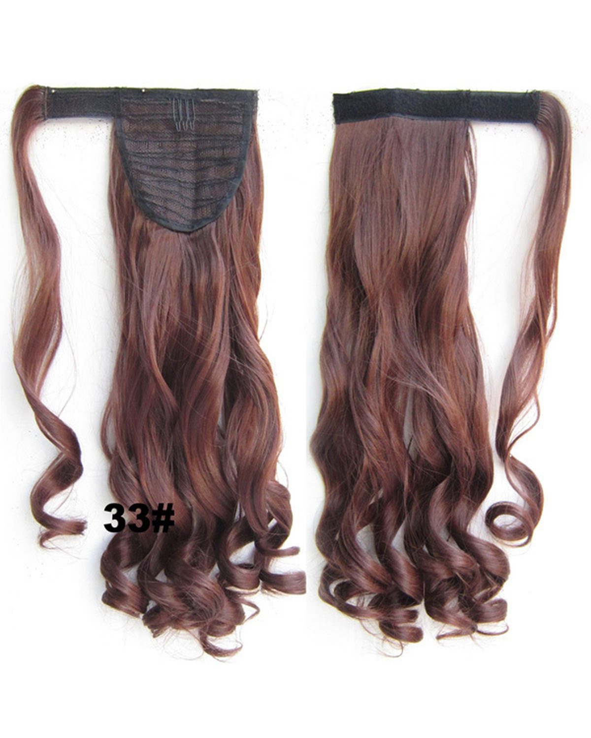 22 Inch Lady Thick Curly and Long Wrap Around Synthetic Hair Ponytail 33#