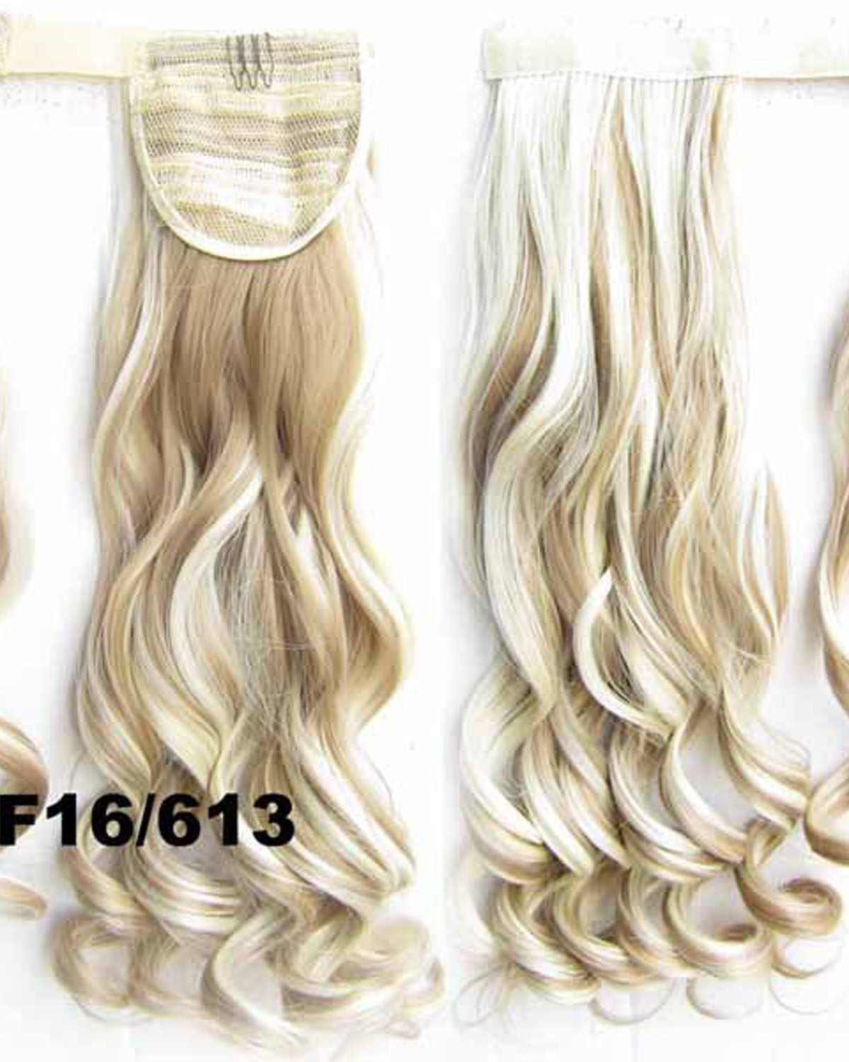 22 Inch Lady Vibrant Curly and Long Wrap Around Synthetic Hair Ponytail F16/613