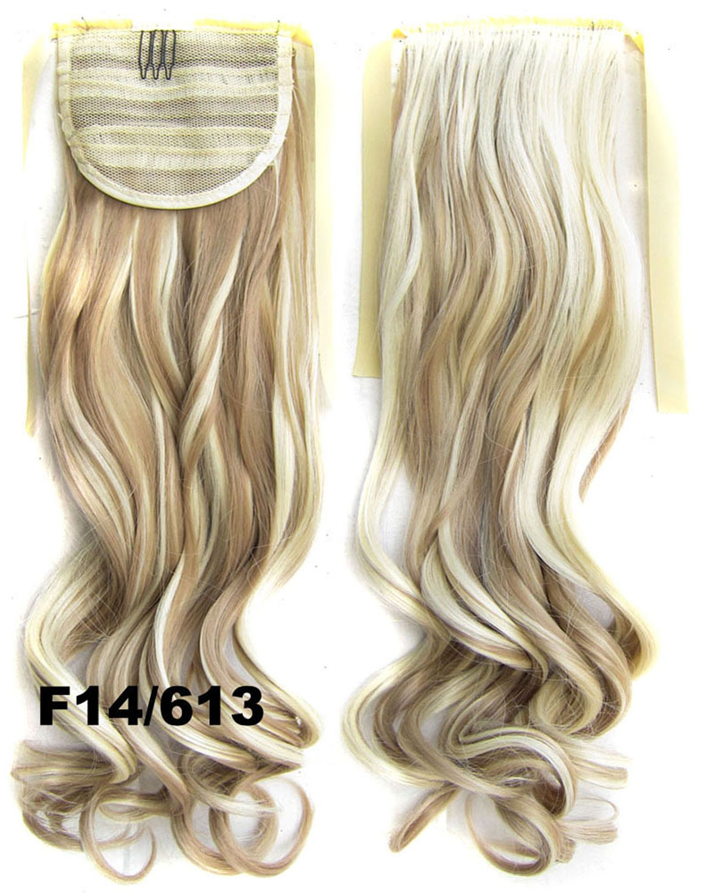 22 Inch Lady Vivid Curly and Long Lace/Ribbon Synthetic Hair Ponytail F14/613