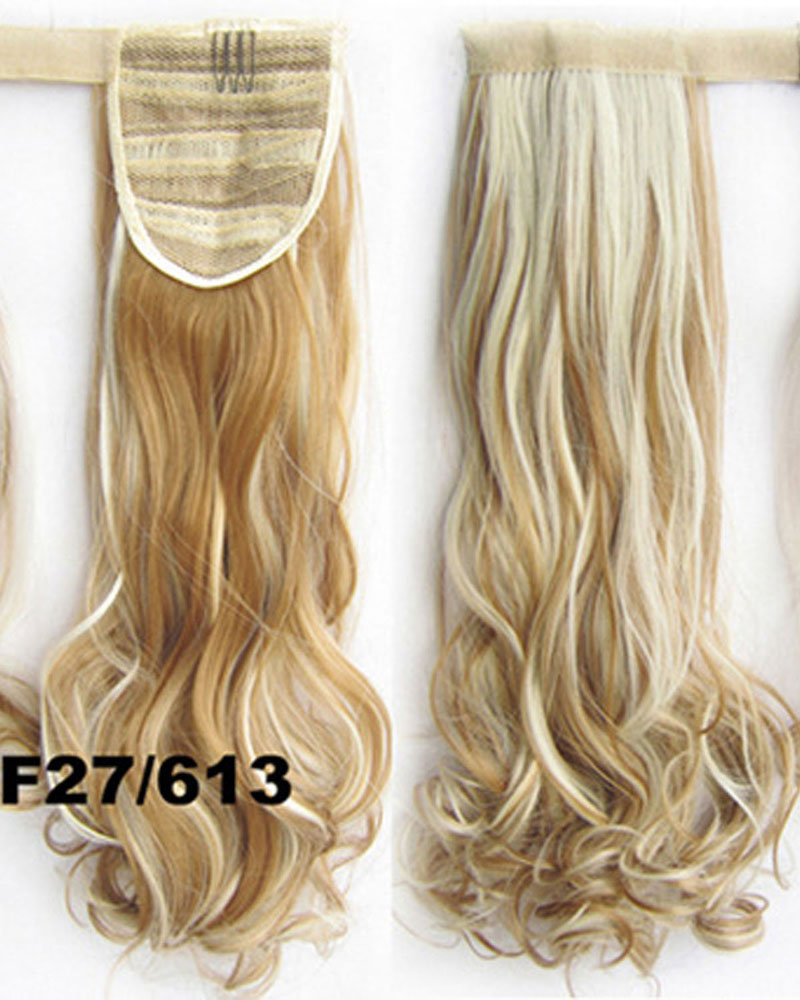22 Inch Lady Vivid Curly and Long Wrap Around Synthetic Hair Ponytail F27/613