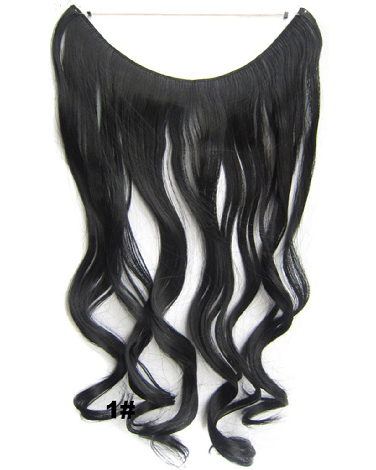 22 Inch Newly Curly and Long One Piece Miracle Wire Flip in Synthetic Hair Extension1#